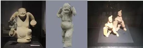 ▲汉代民间艺人的生动再现——说唱俑