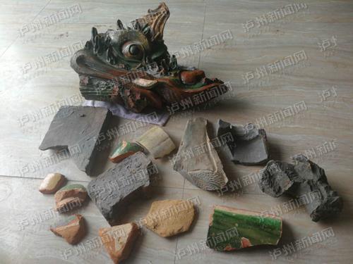 合江村民地里挖出龙头神像 疑似隋唐古庙遗址