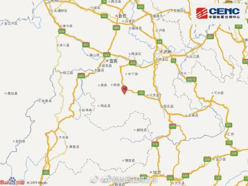 图据中国地震台网