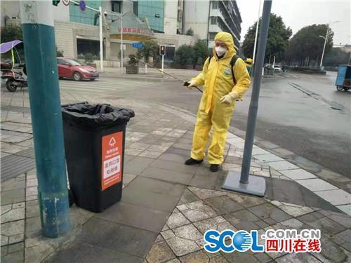 彭州配备1642废弃口罩专用容器 已收运2.5公斤规范处置