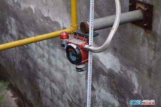 二氧化碳储罐气体检测报警探头安装位置过高