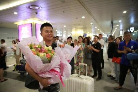 拿下世警会中国首枚奖牌的成都民警回国