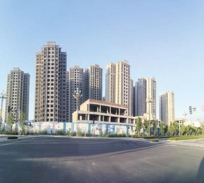 市河东新区二教寺棚户区改造(一期)城中村项目初见雏形