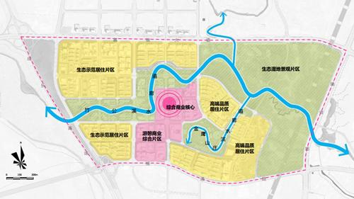 棉竹片区规划结构图