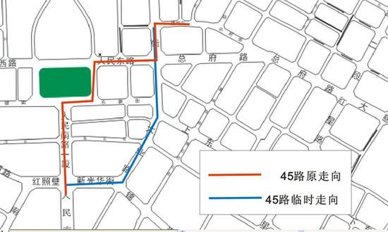 10月1日天府广场升旗仪式期间 成都天府广场公交绕行线路来了