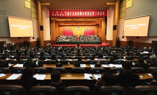 市政协十五届三次会议开幕 范锐平讲话罗强唐川平朱志宏到会祝贺