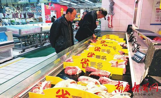 近期南充肉价小幅上涨 吃肉要多掏腰包了