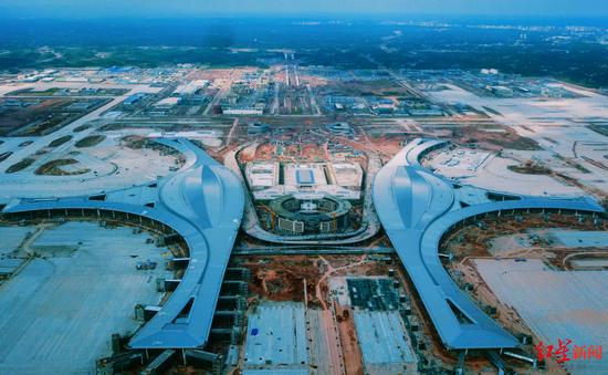 ▲建设中的天府国际机场