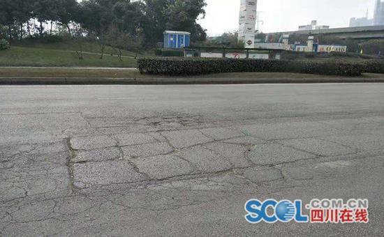 成都天府新区五环路麓山大道段道路破损?官方回复