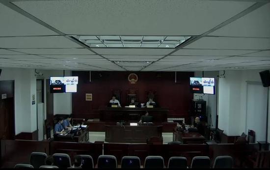 庭审现场(图据中国庭审公开网)