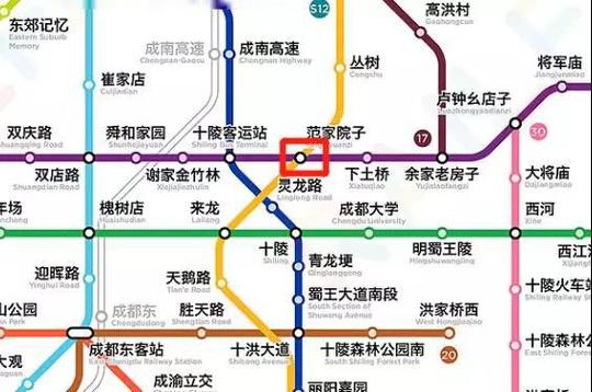 区域地铁规划地图