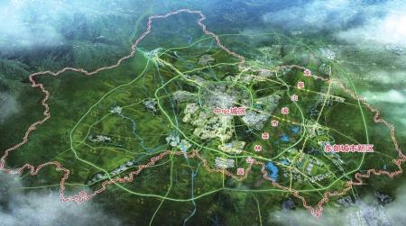 成都市空间格局规划示意图