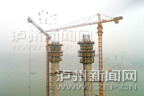 泸州长江二桥建设有序推进 主塔预计年内封顶