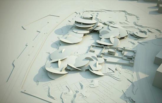 卡塔尔国家博物馆3D模型图