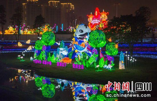 熊猫灯组(郝立艺 摄)