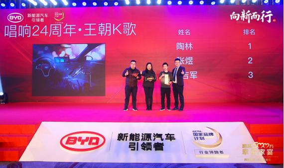 比亚迪汽车销售有限公司 西南营销中心用户体验科科长 李富天为挑战赛获奖嘉宾颁奖