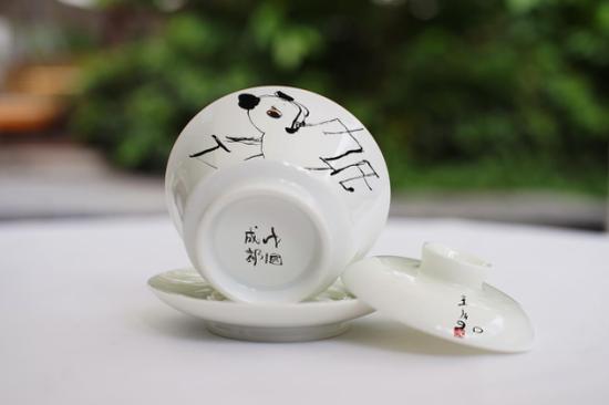 王川艺术衍生品——盖碗茶杯