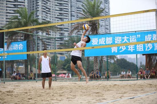 首次进入成都市运会 青少年组沙滩排球比赛圆满落幕