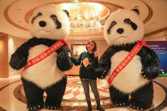 大熊猫山城迎客