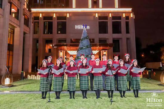 成都协信中心希尔顿酒店亮灯仪式-悦享圣诞'希'式低碳