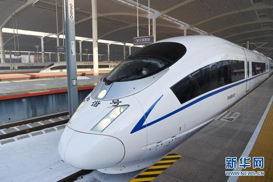 京哈高铁全线贯通 北京至沈阳最快只要2小时44分
