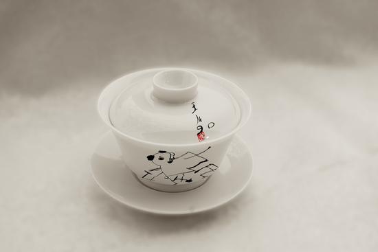 王川艺术衍生品——盖碗茶杯 售价:704元