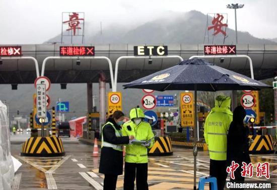 图为:台州章安高速收费站 椒江供图