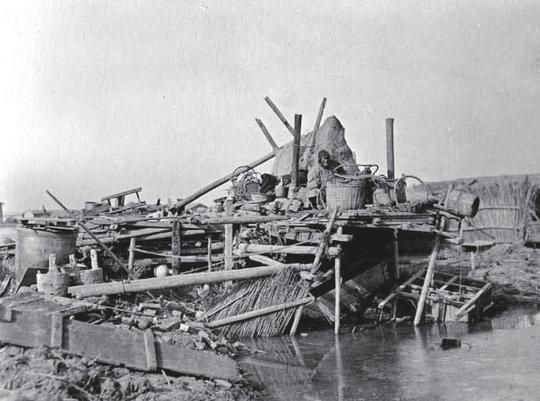 1947年成都暴雨(资料图片)。