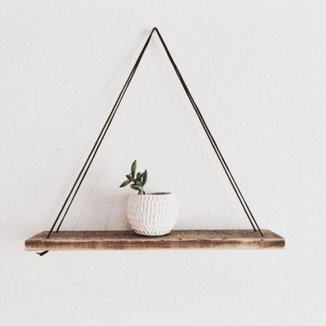 木质悬挂装饰 图片来源自Pinterest@ Dani Comstock