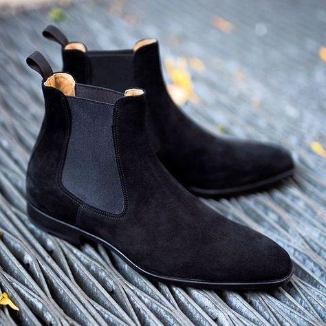 麂皮切尔西靴子
