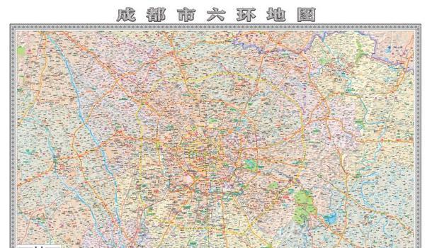 首张《成都市六环地图》出炉