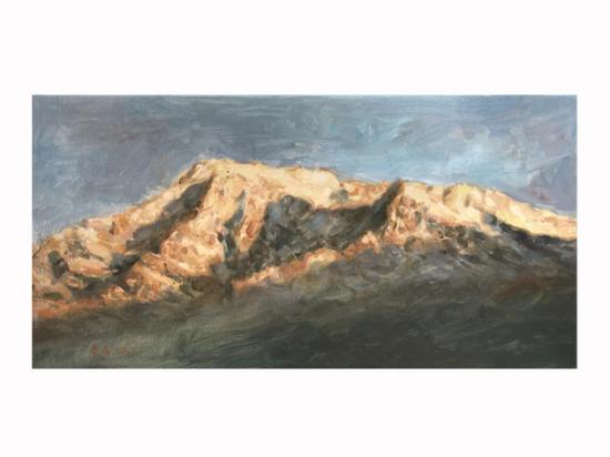 曹阳 《雪山》 布面油画 20×40cm 售价:3200元