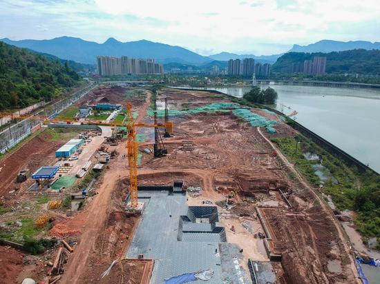 雅安熊猫会展博览馆建设现场