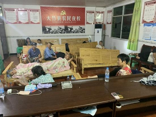 大竹县地灾避险转移群众妥善安置