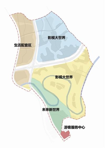 中国科幻影视文旅产业园结构图