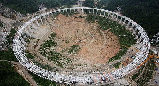 世界最大射电望远镜面板下线:称为中国天眼