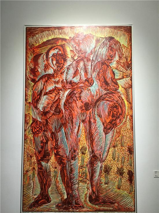 艺术家将抽象思维转化成具象的图像,借助图像,将平面艺术融入以人