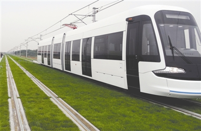 安装了超级电容的现代有轨电车可智能控制电线