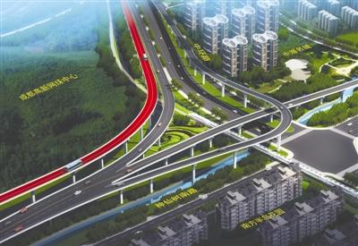 成都元华路神仙树片区将建高架桥