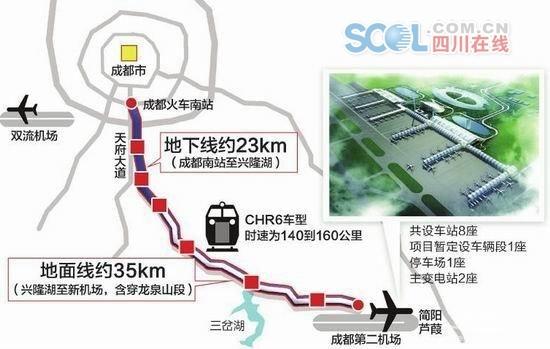 成都地铁18号线一二期线路示意图(资料图)