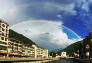 马尔康市雨后现双彩虹