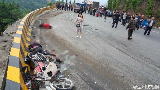 事故现场。