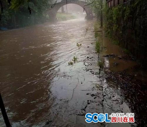 雅安市普降大到暴雨