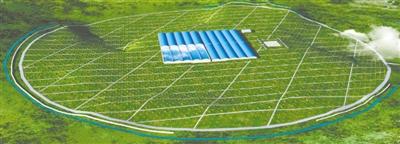 高海拔宇宙线观测站整体布局效果图
