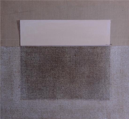 《透光系列-平面的逻辑》 布面油画 丙烯 60x65cm  2014年