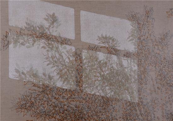 《疏影横斜18》  布面丙烯 树胶 100x72cm 2016年
