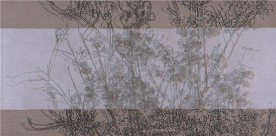 《疏影横斜17》  120x60cm 布面丙烯 树胶2016年