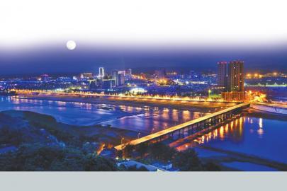 彭山城市夜景。