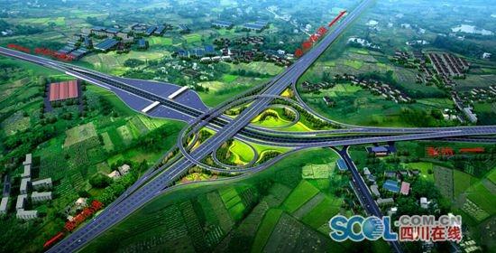 成彭高速公路扩容改造工程--大丰枢纽立交