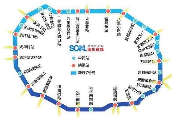 成都首条环线地铁,7号线洞通